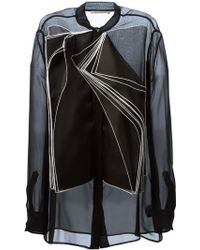 Christopher Kane Layered Flap Blouse - Lyst