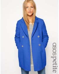 Asos Exclusive Double Breasted Textured Coat - Lyst
