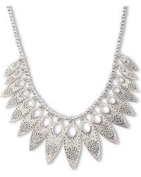 Lucky Brand - Floral-Leaf Collar Necklace - Lyst