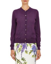Dolce & Gabbana Jeweled-Button Cashmere Cardigan - Lyst