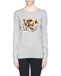 Markus Lupfer Tiger Cub Sequin Natalie Sweater - Lyst