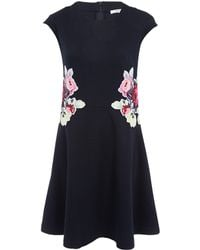 Carven  Floral Print Flare Dress - Lyst