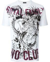 Diesel Black Gold 'Toriciy Royal Club' T-Shirt white - Lyst