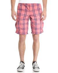 Superdry Washbasket Check Cargo Shorts - Lyst