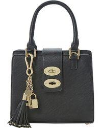 Dune Dubby Double Lock Top Handle Bag - Lyst