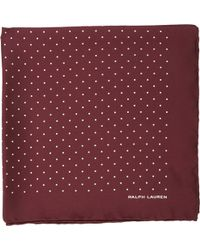 Ralph Lauren Black Label Pin Dot Pocket Square - Lyst
