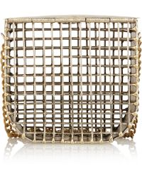 Anndra Neen - Cage Gold-Tone Shoulder Bag - Lyst