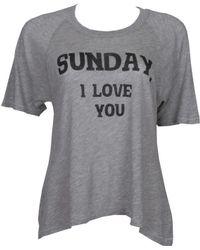 Wildfox Sunday I Love You Perfect Tee - Lyst
