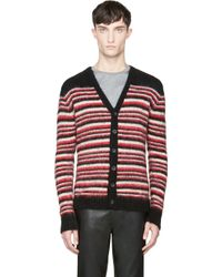 Diesel Red and Black Striped K_bandura Sweater - Lyst