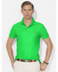 Polo Ralph Lauren Slim-Fit Mesh Polo green - Lyst