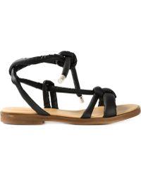 MM6 by Maison Martin Margiela Knot Detail Sandals - Lyst