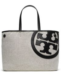 Tory Burch Lonnie Canvas Tote - Lyst