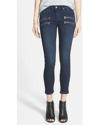 Paige 'Edgemont' Crop Jeans - Lyst