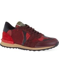 Valentino Studded Camouflage Print Trainers - For Men - Lyst
