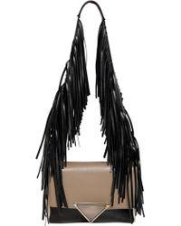 Sara Battaglia Teresa Color Blocked Leather Bag - Lyst