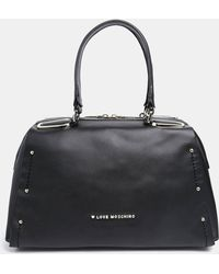 Love Moschino Leather Handbag with Stud Detail - Lyst