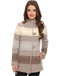 Pendleton Petite Alpine Stripe Boiled Wool Cardigan - Lyst