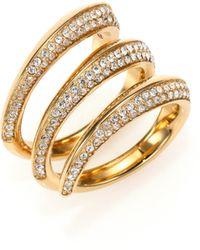 Michael Kors PavÉ Three-Row Ring gold - Lyst