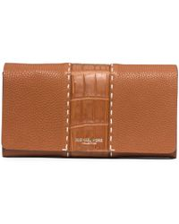 Michael Kors Rogers Grained-Leather Continental Wallet - Lyst