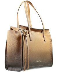 Ferragamo Handbag Woman beige - Lyst