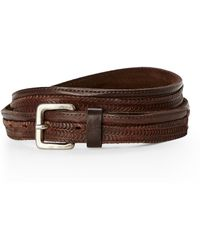 Transit - Craved Leather Belt - Lyst