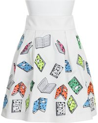 Olympia Le-Tan Skirt white - Lyst