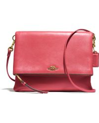 Coach Madison Foldover Crossbody in Leather - Lyst