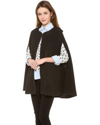Lovers + Friends - Lovers Friends Monica Rose Florence Cape Black - Lyst