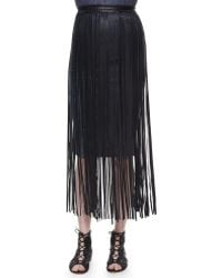 Elie Tahari | Jules Leather Fringe Belt | Lyst
