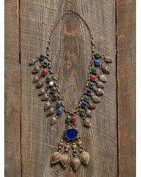Free People Vintage Stone Pendant Necklace - Lyst