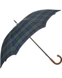 Barneys New York Blackwatch Plaid Stick Umbrella - Lyst