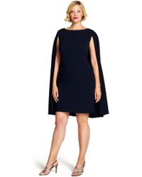 Adrianna Papell - Structured Cape Sheath Dress - Lyst
