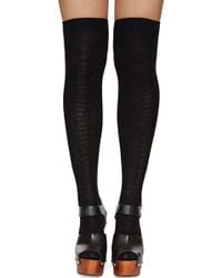 Nasty Gal Elizabeth Thigh High Socks - Lyst