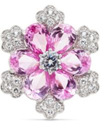CZ by Kenneth Jay Lane - Pear Cut Cubic Zirconia Flower Ring - Lyst