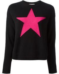 RED Valentino Star Motif Sweater - Lyst