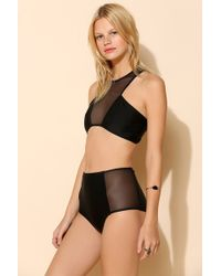 Urban Outfitters - Mesh Cutout Racerback Bikini - Lyst
