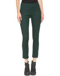 Free People High Rise Menswear Crop Pants Blackgreen - Lyst