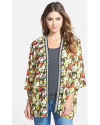 Kut From The Kloth 'Florence' Embellished Kimono Wrap - Lyst