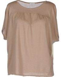 Gold Case Short Sleeve Jumper - Lyst