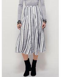Free People | X Cp Shades Womens Fanny Midi Skirt | Lyst
