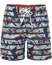 Duck and Cover - Danno Hawaiian Print Swim Shorts - Lyst