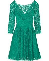 Issa Cotton-blend Lace Dress - Lyst