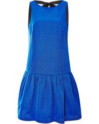 Tibi Katia Exposedback Faille Dress - Lyst