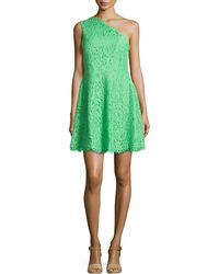 Shoshanna Maia One-Shoulder Lace Dress - Lyst