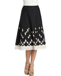 Nic + Zoe Graphic Gardens Patio Skirt black - Lyst