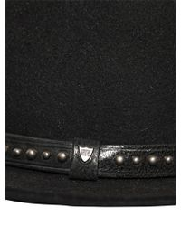 HTC Hollywood Trading Company - Studded Lapin Wide Brim Hat - Lyst