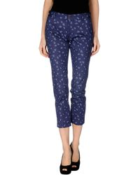 Gucci Blue Casual Pants - Lyst