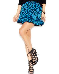 Guess Intarsia-Knit Skater Skirt - Lyst