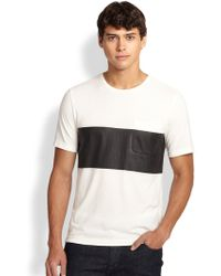 Madison Supply Cotton Stripe Tee - Lyst