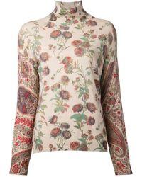 Etro Print Sweater - Lyst